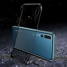 Handyhülle Hülle Crystal Tasche Schutzhülle S04 für Huawei P20 Pro Schwarz