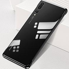 Handyhülle Hülle Crystal Tasche Schutzhülle S06 für Huawei P20 Pro Schwarz