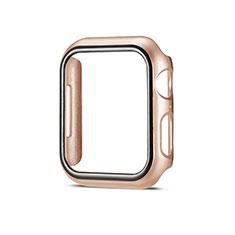 Handyhülle Hülle Hartschalen Kunststoff Schutzhülle Tasche Matt M01 für Apple iWatch 5 44mm Gold
