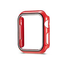 Handyhülle Hülle Hartschalen Kunststoff Schutzhülle Tasche Matt M01 für Apple iWatch 5 44mm Rot