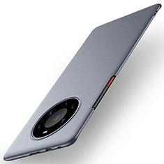 Handyhülle Hülle Hartschalen Kunststoff Schutzhülle Tasche Matt M01 für Huawei Mate 40 Pro+ Plus Grau
