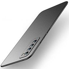 Handyhülle Hülle Hartschalen Kunststoff Schutzhülle Tasche Matt M01 für Huawei Nova 7 5G Schwarz