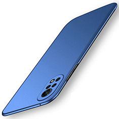 Handyhülle Hülle Hartschalen Kunststoff Schutzhülle Tasche Matt M01 für Huawei Nova 8 5G Blau