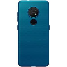 Handyhülle Hülle Hartschalen Kunststoff Schutzhülle Tasche Matt M01 für Nokia 7.2 Blau