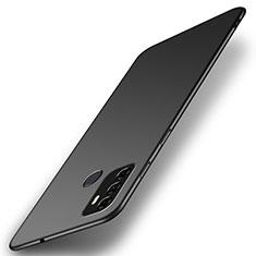 Handyhülle Hülle Hartschalen Kunststoff Schutzhülle Tasche Matt M01 für Oppo A53s Schwarz