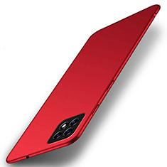 Handyhülle Hülle Hartschalen Kunststoff Schutzhülle Tasche Matt M01 für Oppo A73 5G Rot