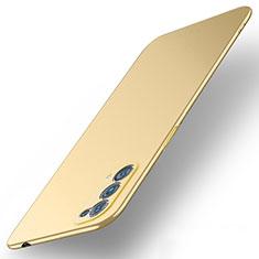 Handyhülle Hülle Hartschalen Kunststoff Schutzhülle Tasche Matt M01 für Oppo Reno5 5G Gold