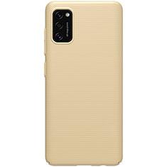 Handyhülle Hülle Hartschalen Kunststoff Schutzhülle Tasche Matt M01 für Samsung Galaxy A41 Gold