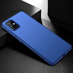 Handyhülle Hülle Hartschalen Kunststoff Schutzhülle Tasche Matt M01 für Samsung Galaxy A51 4G Blau