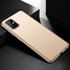 Handyhülle Hülle Hartschalen Kunststoff Schutzhülle Tasche Matt M01 für Samsung Galaxy A51 4G Gold
