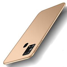 Handyhülle Hülle Hartschalen Kunststoff Schutzhülle Tasche Matt M01 für Samsung Galaxy M21s Gold