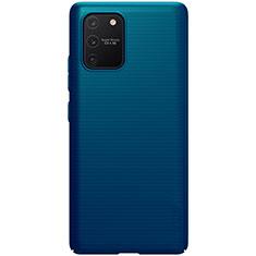Handyhülle Hülle Hartschalen Kunststoff Schutzhülle Tasche Matt M01 für Samsung Galaxy S10 Lite Blau
