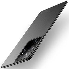 Handyhülle Hülle Hartschalen Kunststoff Schutzhülle Tasche Matt M01 für Samsung Galaxy S21 Ultra 5G Schwarz