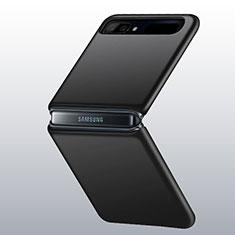 Handyhülle Hülle Hartschalen Kunststoff Schutzhülle Tasche Matt M01 für Samsung Galaxy Z Flip Schwarz