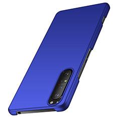 Handyhülle Hülle Hartschalen Kunststoff Schutzhülle Tasche Matt M01 für Sony Xperia 1 II Blau