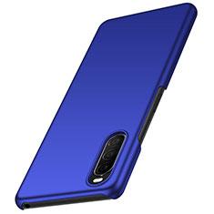 Handyhülle Hülle Hartschalen Kunststoff Schutzhülle Tasche Matt M01 für Sony Xperia 10 II Blau