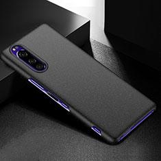 Handyhülle Hülle Hartschalen Kunststoff Schutzhülle Tasche Matt M01 für Sony Xperia 5 Schwarz