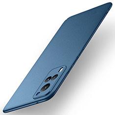 Handyhülle Hülle Hartschalen Kunststoff Schutzhülle Tasche Matt M01 für Vivo X60 5G Blau