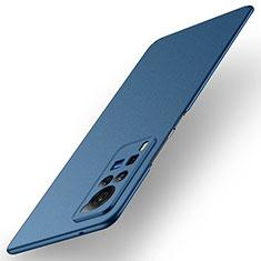 Handyhülle Hülle Hartschalen Kunststoff Schutzhülle Tasche Matt M01 für Vivo X60 Pro 5G Blau