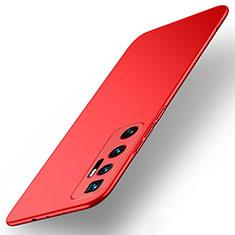 Handyhülle Hülle Hartschalen Kunststoff Schutzhülle Tasche Matt M01 für Xiaomi Mi 10 Ultra Rot