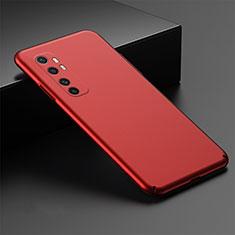 Handyhülle Hülle Hartschalen Kunststoff Schutzhülle Tasche Matt M01 für Xiaomi Mi Note 10 Lite Rot