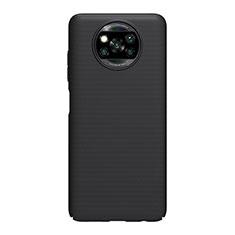 Handyhülle Hülle Hartschalen Kunststoff Schutzhülle Tasche Matt M01 für Xiaomi Poco X3 NFC Schwarz
