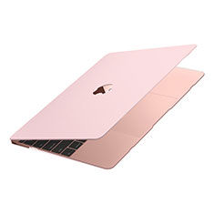 Handyhülle Hülle Hartschalen Kunststoff Schutzhülle Tasche Matt M02 für Apple MacBook Air 13 zoll (2020) Rosa