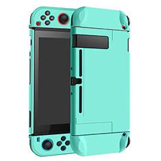 Handyhülle Hülle Hartschalen Kunststoff Schutzhülle Tasche Matt M02 für Nintendo Switch Cyan
