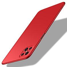 Handyhülle Hülle Hartschalen Kunststoff Schutzhülle Tasche Matt M02 für Oppo A92s 5G Rot