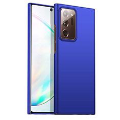 Handyhülle Hülle Hartschalen Kunststoff Schutzhülle Tasche Matt M02 für Samsung Galaxy Note 20 Ultra 5G Blau
