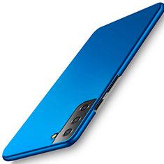 Handyhülle Hülle Hartschalen Kunststoff Schutzhülle Tasche Matt M02 für Samsung Galaxy S21 Plus 5G Blau