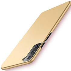 Handyhülle Hülle Hartschalen Kunststoff Schutzhülle Tasche Matt M02 für Samsung Galaxy S21 Plus 5G Gold