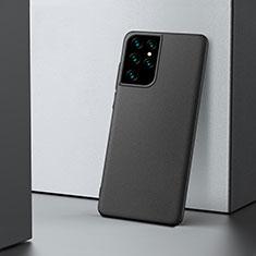 Handyhülle Hülle Hartschalen Kunststoff Schutzhülle Tasche Matt M02 für Samsung Galaxy S21 Ultra 5G Schwarz