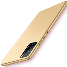 Handyhülle Hülle Hartschalen Kunststoff Schutzhülle Tasche Matt M03 für Huawei Nova 7 Pro 5G Gold