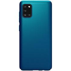 Handyhülle Hülle Hartschalen Kunststoff Schutzhülle Tasche Matt M03 für Samsung Galaxy A31 Blau