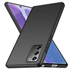 Handyhülle Hülle Hartschalen Kunststoff Schutzhülle Tasche Matt M03 für Samsung Galaxy Note 20 5G Schwarz