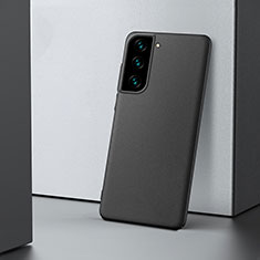 Handyhülle Hülle Hartschalen Kunststoff Schutzhülle Tasche Matt M04 für Samsung Galaxy S21 5G Schwarz