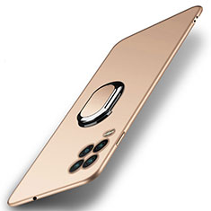 Handyhülle Hülle Hartschalen Kunststoff Schutzhülle Tasche Matt mit Magnetisch Fingerring Ständer A01 für Xiaomi Mi 10 Lite Gold