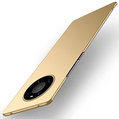 Handyhülle Hülle Hartschalen Kunststoff Schutzhülle Tasche Matt P01 für Huawei Mate 40 Pro Gold