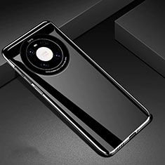Handyhülle Hülle Hartschalen Kunststoff Schutzhülle Tasche Matt P01 für Huawei Mate 40 Schwarz