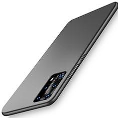 Handyhülle Hülle Hartschalen Kunststoff Schutzhülle Tasche Matt P01 für Huawei P40 Pro+ Plus Schwarz