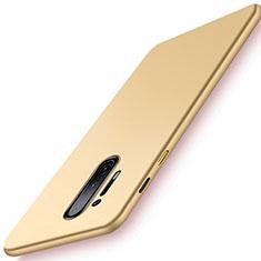 Handyhülle Hülle Hartschalen Kunststoff Schutzhülle Tasche Matt P01 für OnePlus 8 Pro Gold