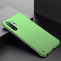 Handyhülle Hülle Hartschalen Kunststoff Schutzhülle Tasche Matt P01 für Samsung Galaxy Note 10 Plus 5G Grün