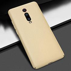 Handyhülle Hülle Hartschalen Kunststoff Schutzhülle Tasche Matt P01 für Xiaomi Mi 9T Pro Gold