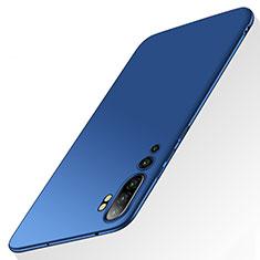 Handyhülle Hülle Hartschalen Kunststoff Schutzhülle Tasche Matt P01 für Xiaomi Mi Note 10 Blau