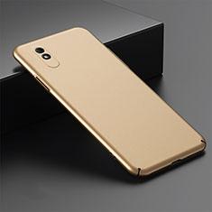 Handyhülle Hülle Hartschalen Kunststoff Schutzhülle Tasche Matt P01 für Xiaomi Redmi 9A Gold