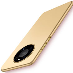 Handyhülle Hülle Hartschalen Kunststoff Schutzhülle Tasche Matt P02 für Huawei Mate 40 Gold