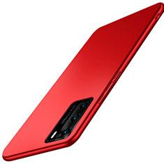Handyhülle Hülle Hartschalen Kunststoff Schutzhülle Tasche Matt P02 für Huawei P40 Rot