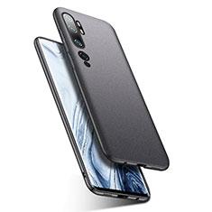 Handyhülle Hülle Hartschalen Kunststoff Schutzhülle Tasche Matt P02 für Xiaomi Mi Note 10 Dunkelgrau