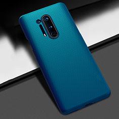 Handyhülle Hülle Hartschalen Kunststoff Schutzhülle Tasche Matt P03 für OnePlus 8 Pro Blau